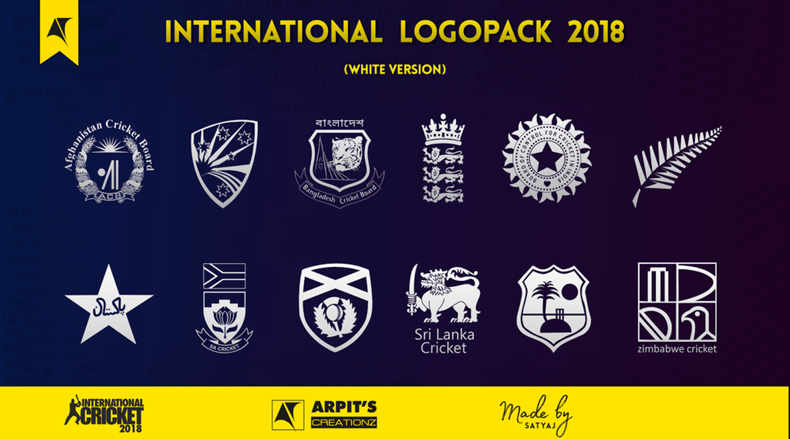 International hd logopack 2018 world wide studio inc a parent company of world wide cricket studio is releasing its new cont ent for all fans of ea sports cricket 07 biocorpaavc
