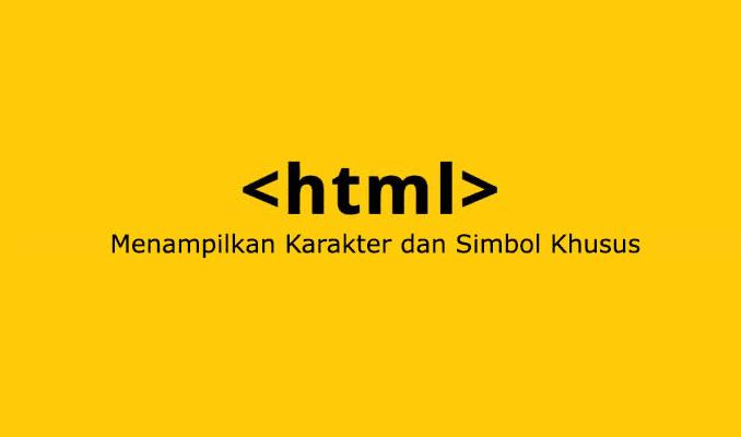 daftar kode karakter dan simbol html khusus