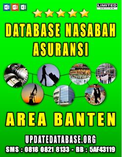 Jual Database Nasabah Asuransi Banten