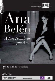Ana Belén en concierto en el Teatro Español