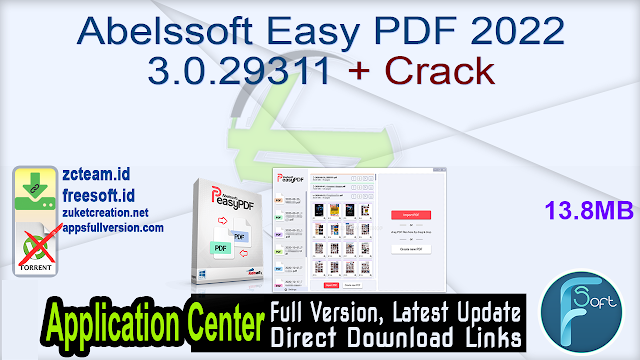 Abelssoft Easy PDF 2022 3.0.29311 + Crack_ ZcTeam.id