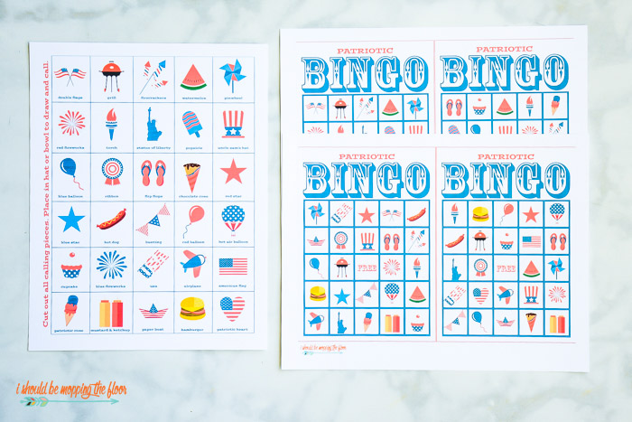image regarding Bingo Chips Printable named Absolutely free 4th of July Bingo Printable Mounted i should really be mopping