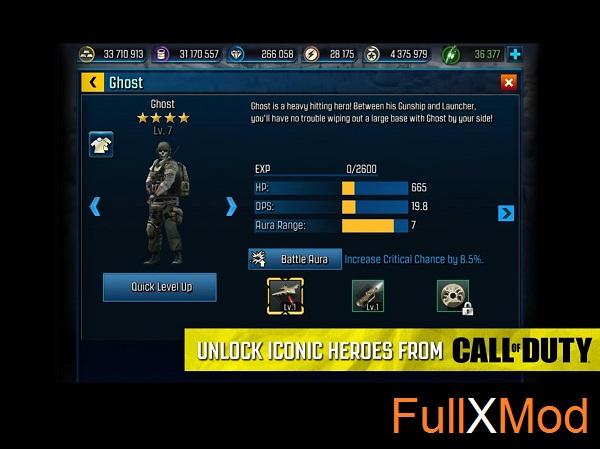 Call of Duty Heroes Mod APK Terbaru