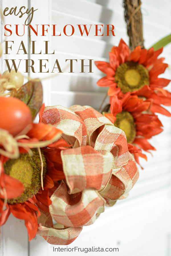 Easy Sunflower Fall Wreath