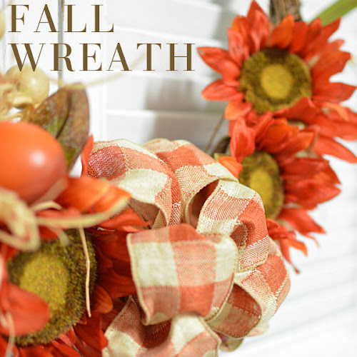 Easy Handmade Orange Sunflower Fall Wreath