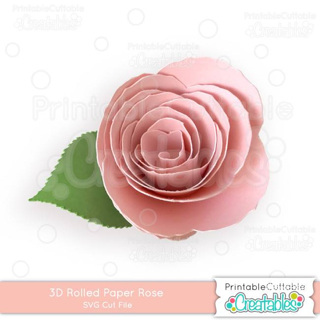 paper rose svg design file