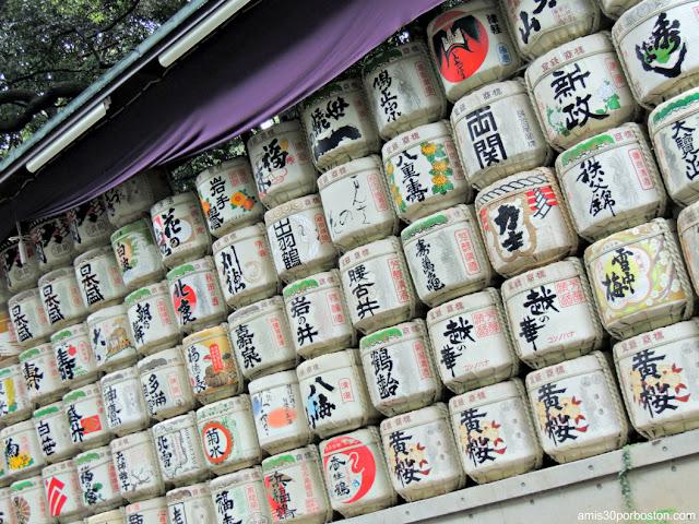 Barriles de Sake en el Santuario Meiji, Tokio
