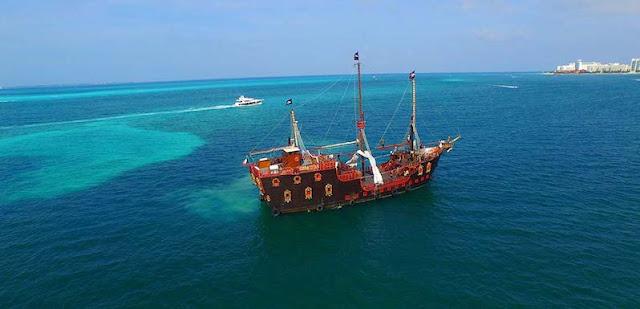 Cruzeiro- Jantar do Capitão Gancho em Cancún