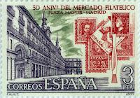 50 ANIVERSARIO DEL MERCADO FILATÉLICO DE LA PLAZA MAYOR DE MADRID