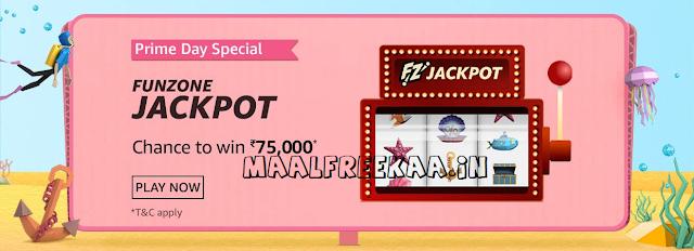 Jackpot Hit on Amazon Prime day Contest