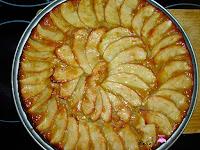 Tarta de manzana fácil pintada