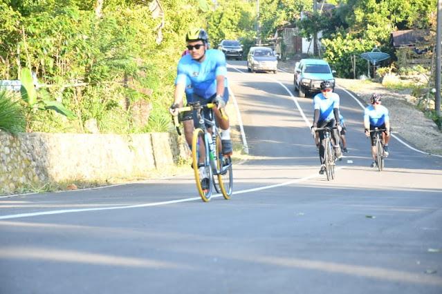 Wow, Bupati Sinjai Touring Sepeda Ke Bantaeng