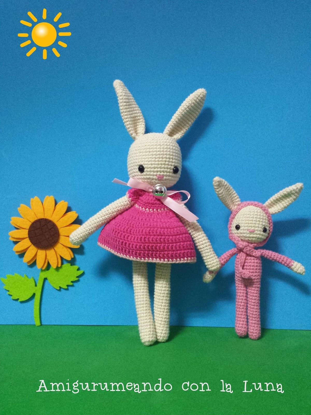 10ea2098e Amigurumeando con la Luna: Mama y bebe Conejo