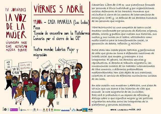 """CASA AMARILLA: IV Jornadas de """"La Voz de la Mujer"""""""
