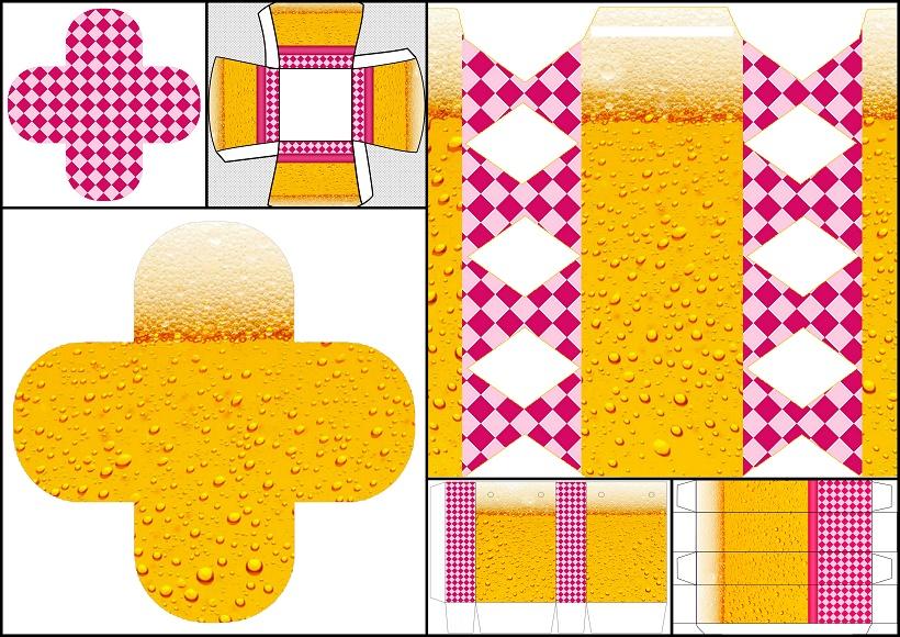 Fiesta de la Cerveza para Chicas: Cajas para Imprimir Gratis. | Oh ...