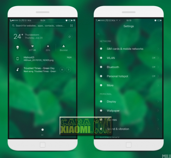 Download Tema Xiaomi Greenest Mtz For MIUI Terbaru
