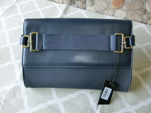 Zalora Thick Strap Oversized Clutch Navy