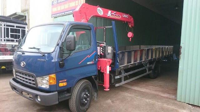 Xe HD120sl 8 tấn gắn cẩu thùng dài 6m