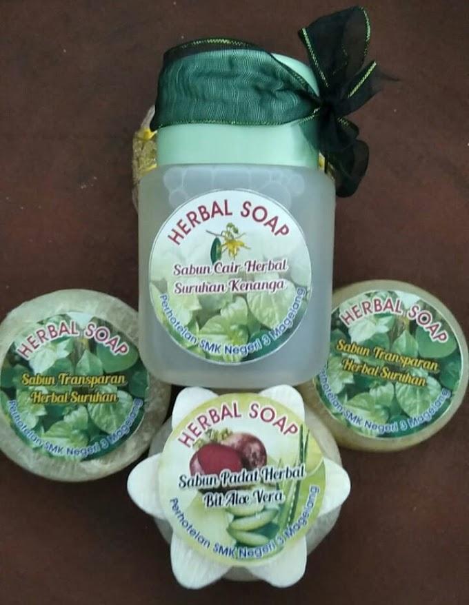 Konsisten Melestarikan Alam dan Kearifan Lokal, SMK 3 MAGELANG Produksi Sabun VCO Herbal, Brownies Mocaf dan Kain D'Jelipat