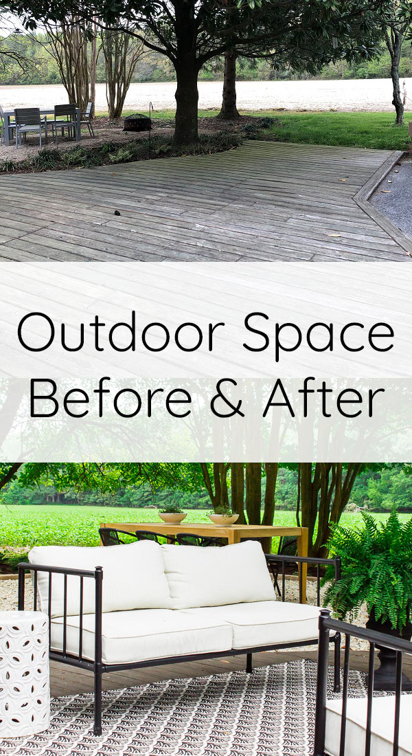 Floating deck makeover before and after