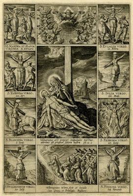 mujeres crucificadas crucified women wierix virgenes y martires