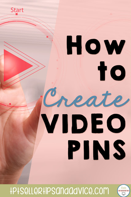 Pin Image with hand pushing play button and title: How to Make a Video Pin for Pinterest