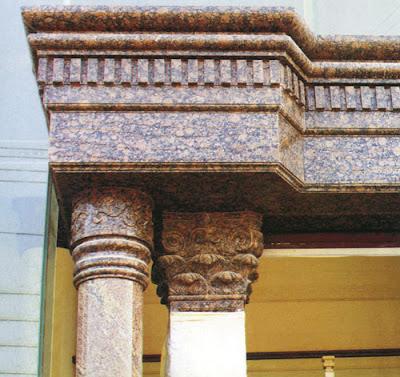 Những ưu điểm nổi bật của đá hoa cương so với các mẫu đá ốp cột khác