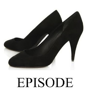 Episode  Angel black suede shoes