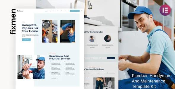 Best Handyman and Maintenance Elementor Template Kit