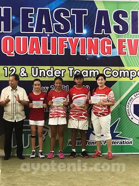Tim Tenis Putri Yunior Indonesia KU 12 Kalahkan Laos