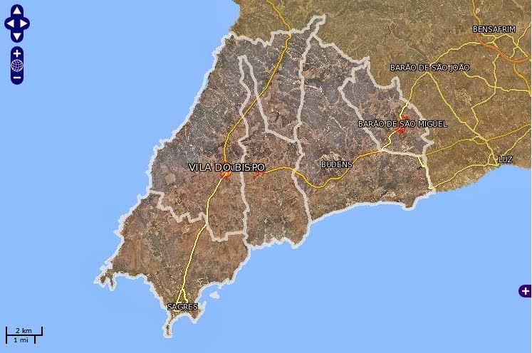 Mapa de Vila do Bispo Map