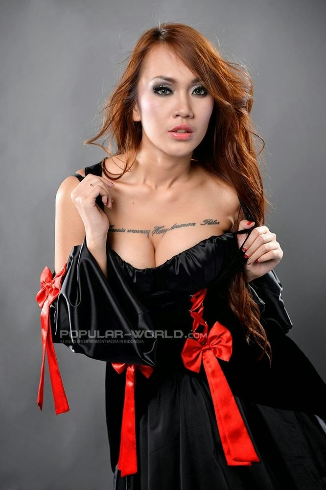 Widya Magdalena Pose for Popular World Magazine BFN 2014