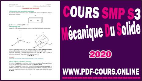 Cours Mécanique Du Solide S3 SMP En PDF (2020)