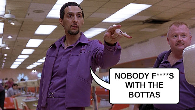 """The Jesus character in The Big Lebowski saying """"nobody effs with the Bottas"""""""