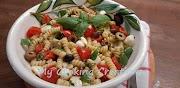 Студена салата с паста, чери и моцарела * Insalata di pasta fredda