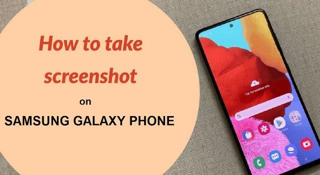 How do I take a Screenshot on my Samsung Galaxy Phone