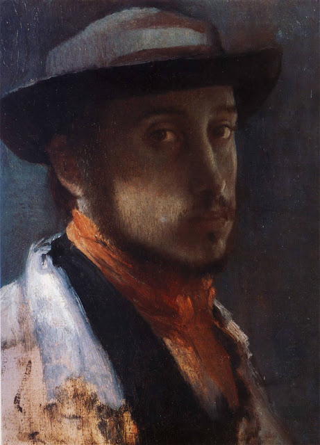 Эдгар Дега - Автопортрет в мягкой шляпе (1857-1858)