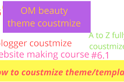 How to coustmize website part 6