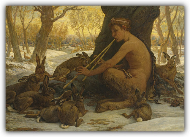 Satyr Serenading Rabbits