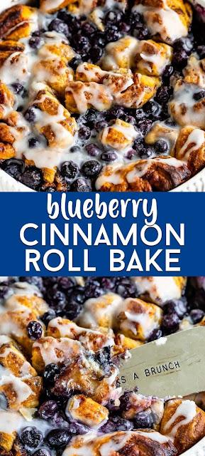 Blueberry Cinnamon Roll Bake