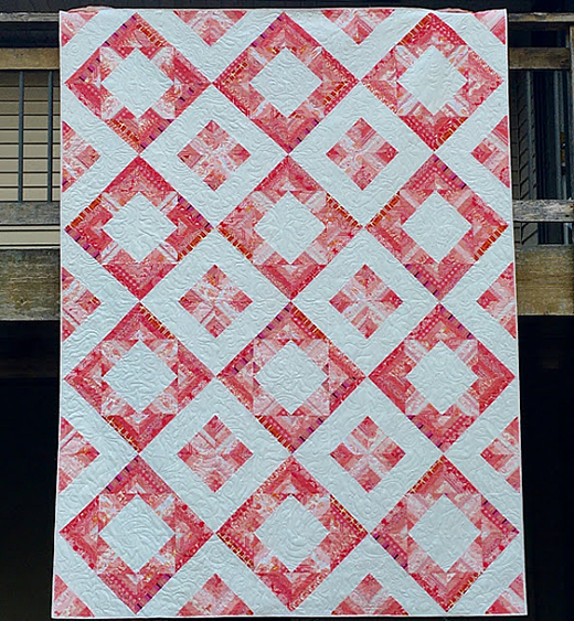Diamonds Squared Quilt designed by Donna Jordan For Jordan Fabrics