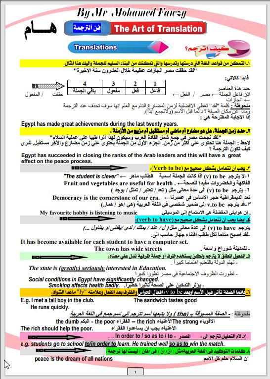 اقوى مذكرة مهارات للمرحلة الثانوية مستر محمد فوزى