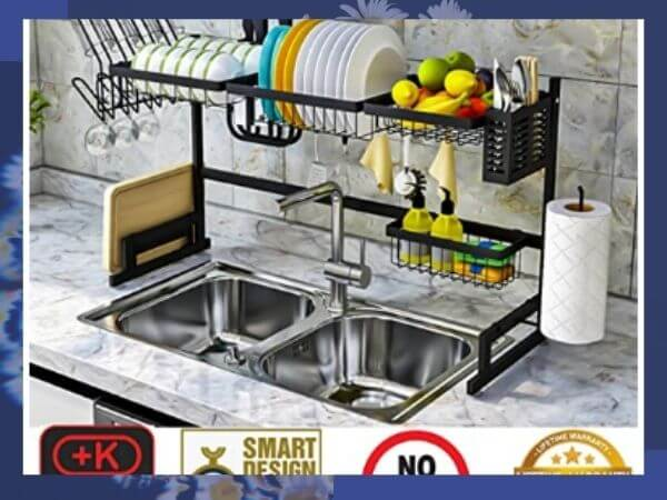6 best over the sink dish drying rack tested  and analysis  2020