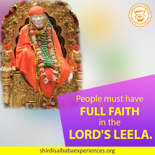 One More Leela of Shirdi Sai Baba - Experience Of Sudheer