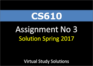 CS610 Assignment No 3 Spring 2017