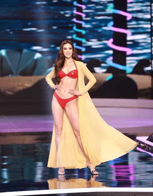 Ảnh Hoa Hậu Hoàn Vũ Việt Nam 2021 Khánh Văn mặc bikini