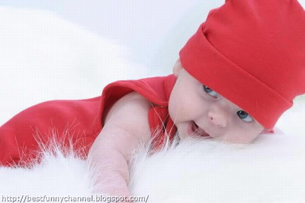 Cute baby in a cap.