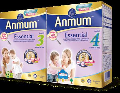 Susu formula anmum essential step 3 dan 4