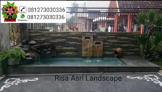 cv. risa asri landscape gambar kolam ikan koi, kolam hias, kolam minimalis, kolam batu batuan