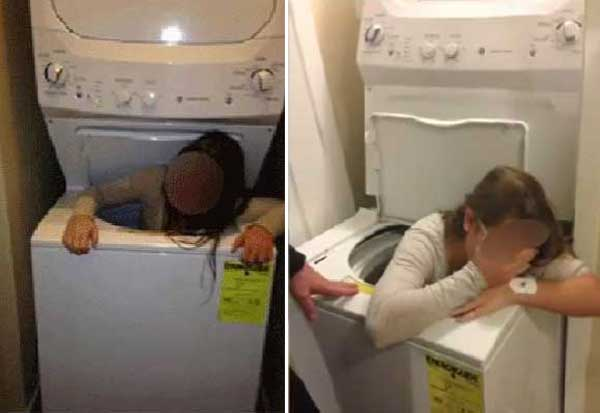 Also Relevant This Hide And Seek Somehow Made National News When The Got Stuck In A Top Load Washer Dryer Stack
